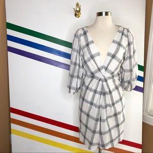 NEW Free people grid printed dress